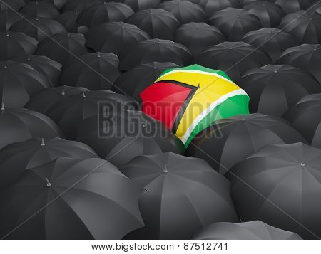 Umbrella With Flag Of Guyana