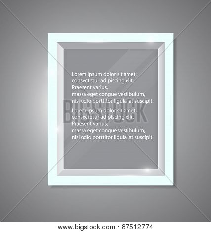Vector Glossy Frame With Shiny Glass