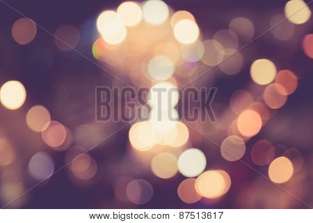Blurred Image Of Light Defocus In Shopping Mall With Bokeh