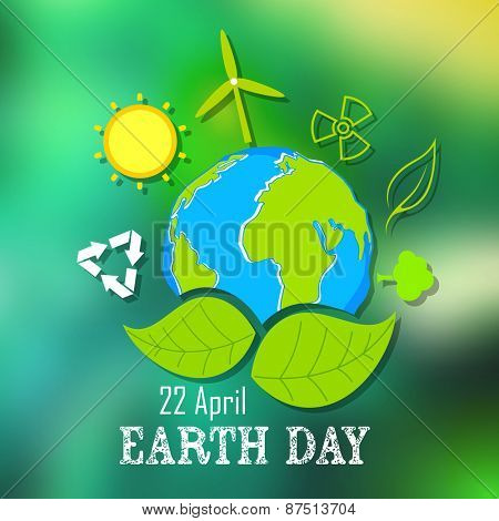 illustration of Earth Day concept with Gl