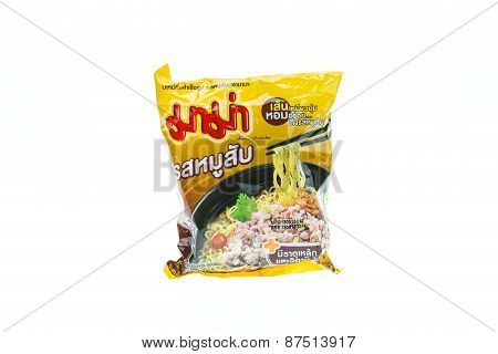 Phuket, Thailand - April 8, 2015. Mama Instant Noodles. Owned By Thai President Foods Public Company