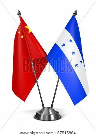 China and Honduras - Miniature Flags.