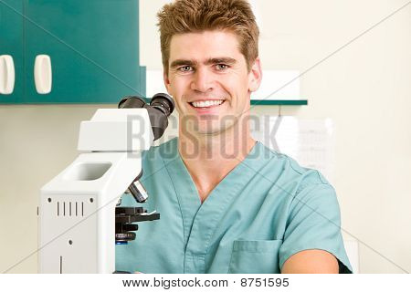 Doctor With Microscope