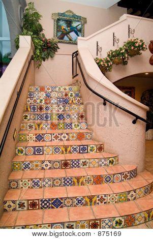 Spanisch Fliese Treppe
