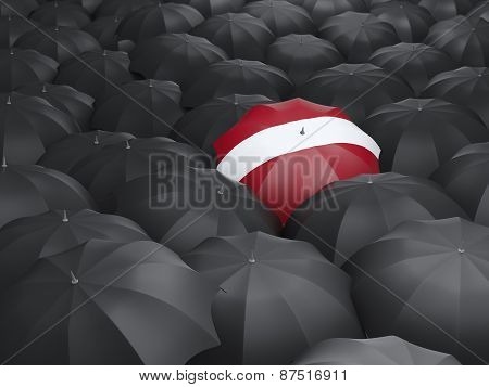 Umbrella With Flag Of Latvia