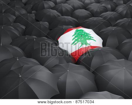 Umbrella With Flag Of Lebanon