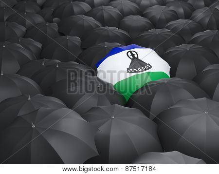 Umbrella With Flag Of Lesotho