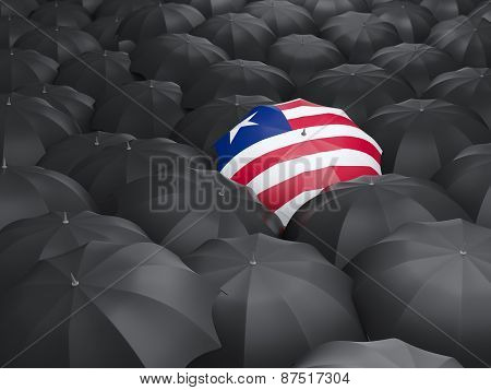 Umbrella With Flag Of Liberia