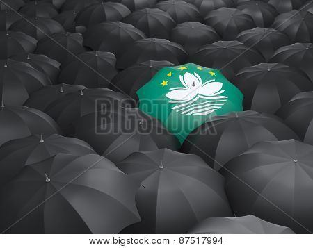 Umbrella With Flag Of Macao