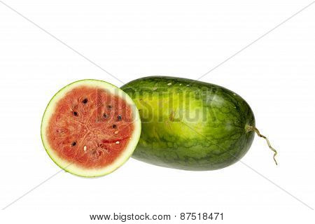 Water Melon  On White Background