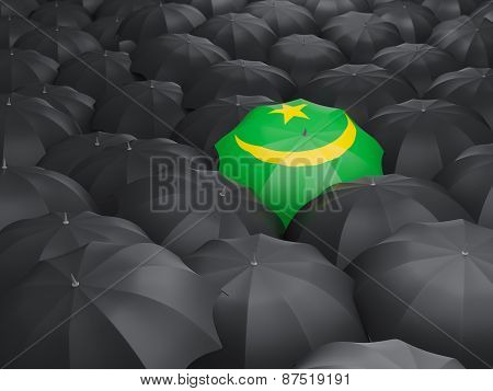 Umbrella With Flag Of Mauritania