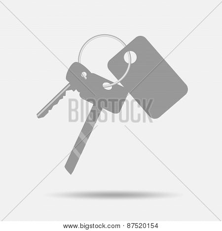 Bunch Of Keys With Keychain