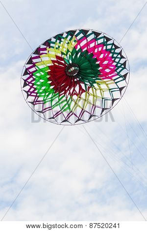 Colorful Of Kite Flying In The Wind.