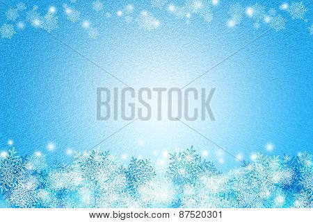 Abstract Snow Freeze Blue And White Color Background Texture For Advertisement