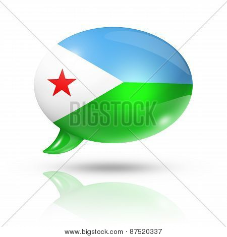 Djibouti Flag Speech Bubble