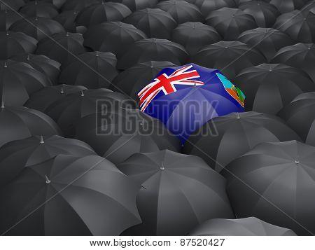Umbrella With Flag Of Montserrat