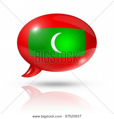 Maldives Flag Speech Bubble