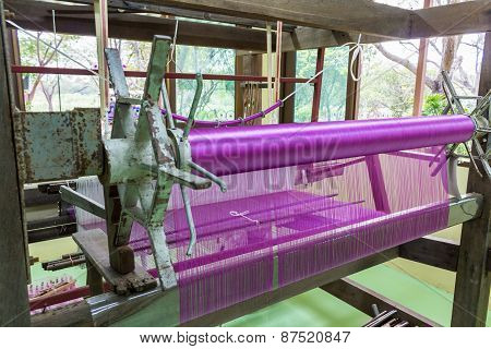Pink Silk Weaving.