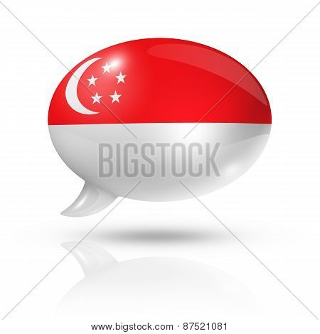 Singapore Flag Speech Bubble