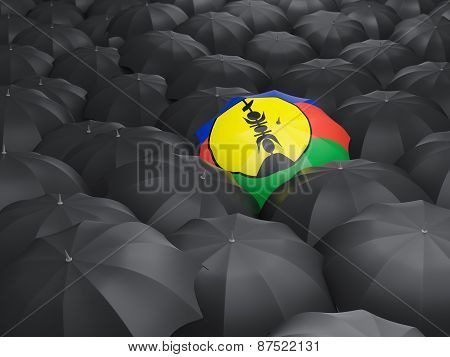 Umbrella With Flag Of New Caledonia