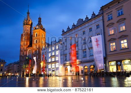 Main square in Krakow.