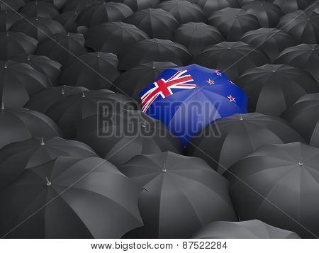 Umbrella With Flag Of New Zealand