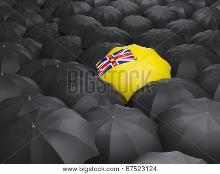 Umbrella With Flag Of Niue
