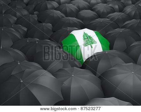 Umbrella With Flag Of Norfolk Island