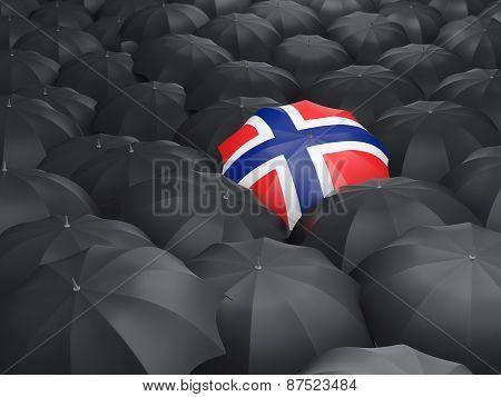 Umbrella With Flag Of Norway