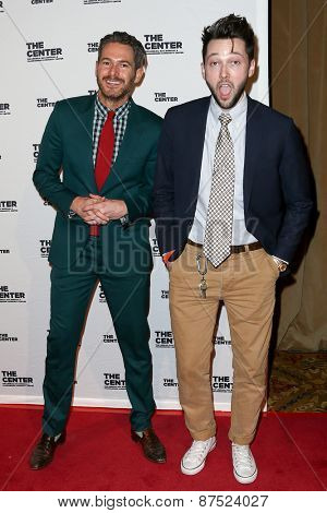 NEW YORK-APR 2: Event planner Bronson van Wyck (L) and designer Chris Benz attend the 2015 Center Dinner at Cipriani Wall Street on April 2, 2015 in New York City.