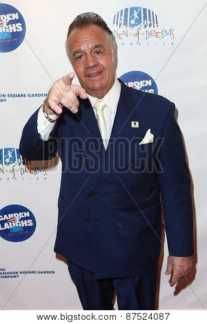 NEW YORK-MAR 28: Actor Tony Sirico attends the 2015 Garden Of Laughs Comedy Benefit at the Club Bar and Grill at Madison Square Garden on March 28, 2015 in New York City.