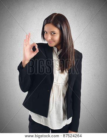 Businesswoman agreement