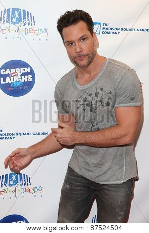 NEW YORK-MAR 28: Comedian Dane Cook attends the 2015 Garden Of Laughs Comedy Benefit at the Club Bar and Grill at Madison Square Garden on March 28, 2015 in New York City.