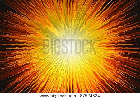 Abstract Sun And Pyramid Shape Background Red And Yellow