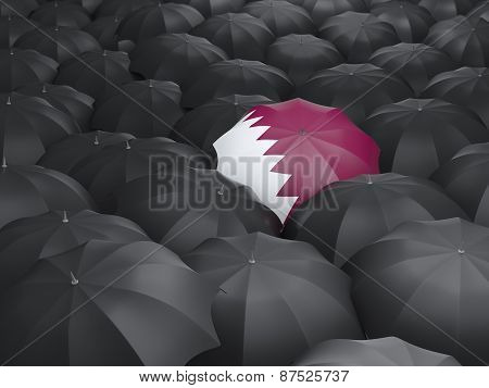 Umbrella With Flag Of Qatar