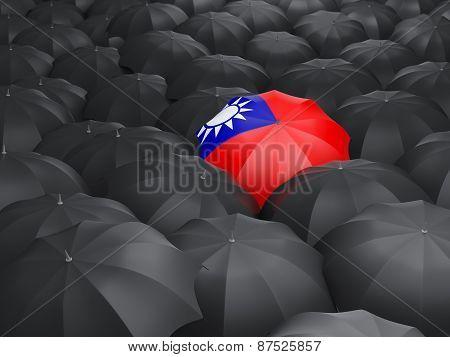 Umbrella With Flag Of Republic Of China