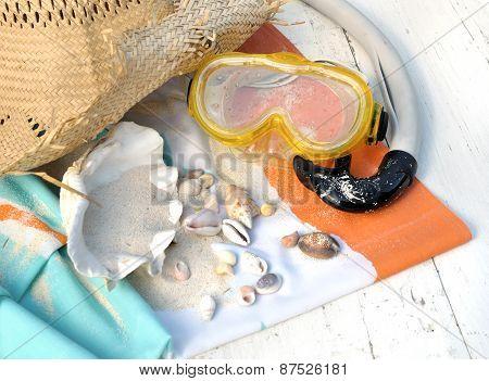 Scuba Mask And Seashells