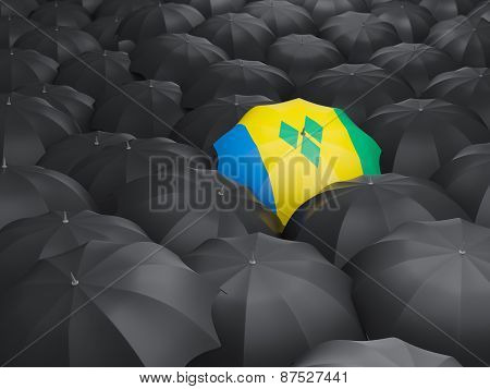 Umbrella With Flag Of Saint Vincent And The Grenadines