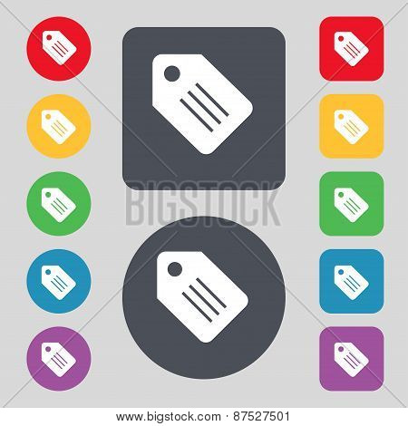 Special Offer Label Icon Sign. A Set Of 12 Colored Buttons. Flat Design. Vector