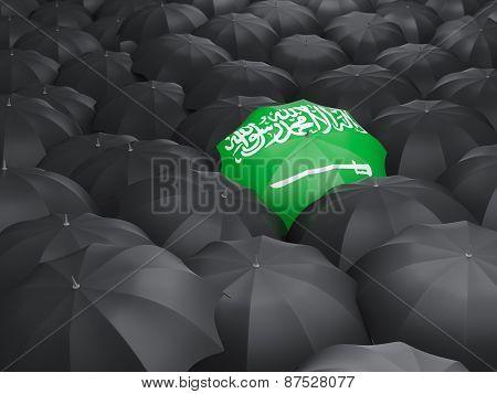 Umbrella With Flag Of Saudi Arabia