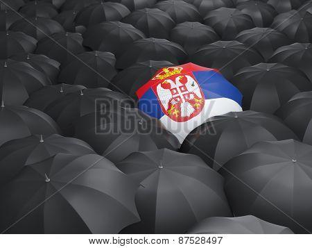 Umbrella With Flag Of Serbia