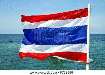 Asia  Kho Phangan   Waving Flag    South