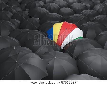 Umbrella With Flag Of Seychelles