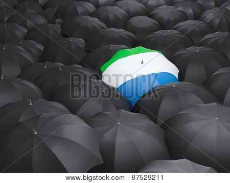 Umbrella With Flag Of Sierra Leone