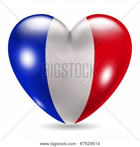 Heart Shaped Icon With Flag Of France