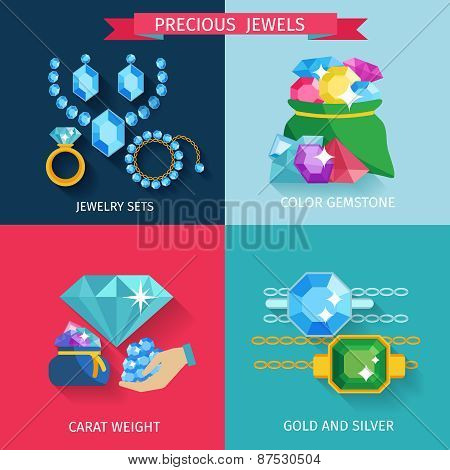 Precious Jewels Flat