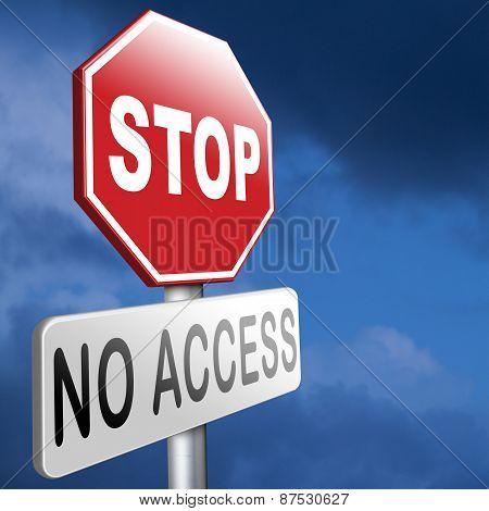 Stop No Access