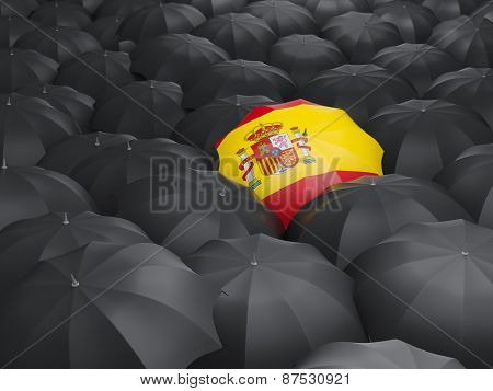 Umbrella With Flag Of Spain