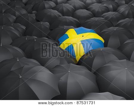 Umbrella With Flag Of Sweden