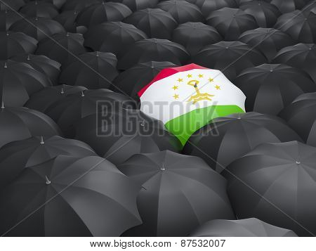 Umbrella With Flag Of Tajikistan